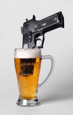 alcohol addiction gun